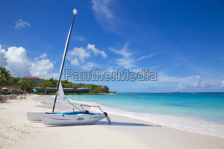 long bay and beach and hobie