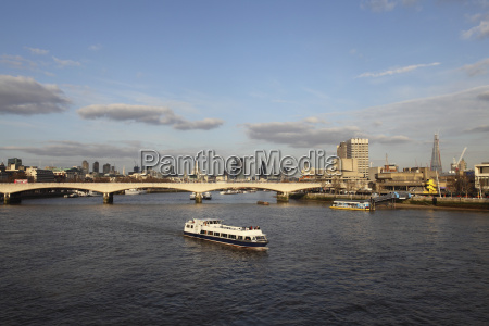 a cruise boat on river thames