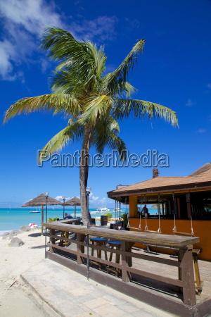 beach and beach bar dickenson bay