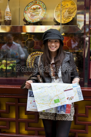 tourist with a map at yu