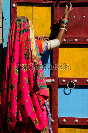 gujjar women wear colourful dress as