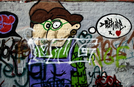 graffiti in werregaren straat ghent