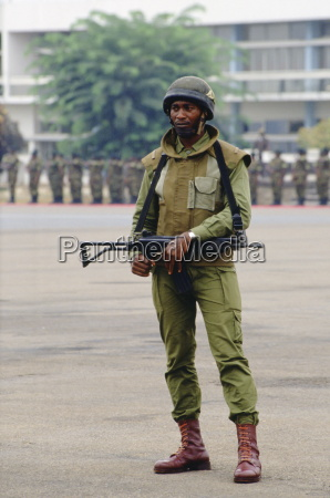 armed soldier cameroon africa