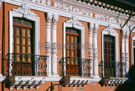 sunlight on neoclassical architecture of a