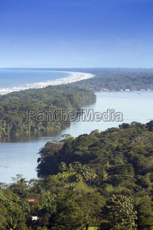 view of rainforest beach and rivers