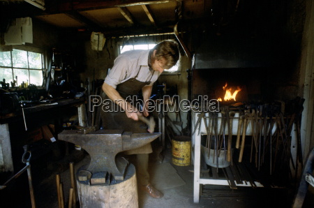 blacksmith hector cole working on new