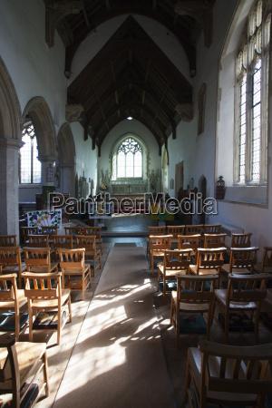 interior st marys parish church kersey