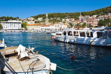 hvar harbour hvar island dalmatian coast