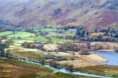 borrowdale in autumn from surprise view