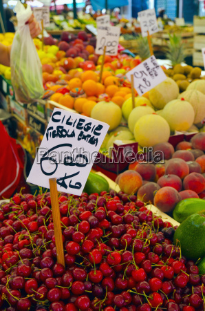 cherries for sale at fruit and