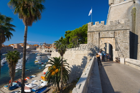 ploce gate in old town walls