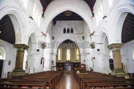 all saints anglican church interior old