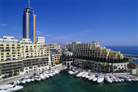 portomaso marina with exclusive apartments and