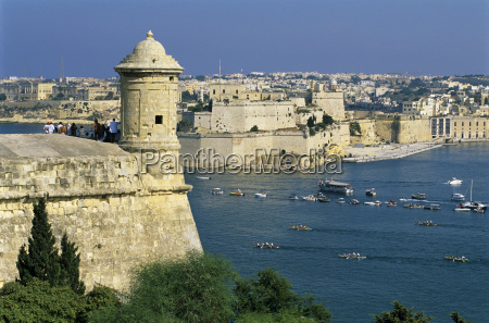 view over bastions and grand harbour
