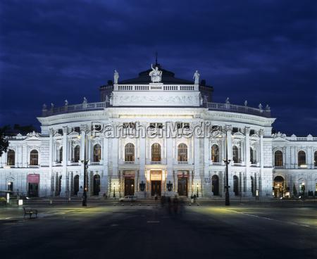 burgtheater at night unesco world heritage