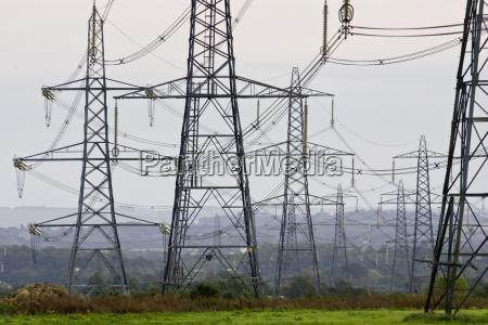 electricity pylons england united kingdom