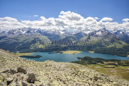 top view of lake sils with