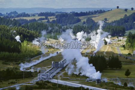 elektrownia geotermalna w wairakei w nowej