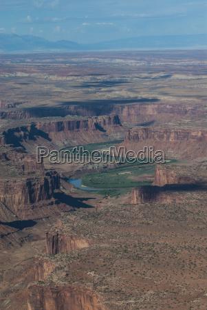 aerial view canyonlands national park utah