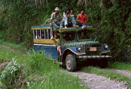bus of commuters travelling to banaue