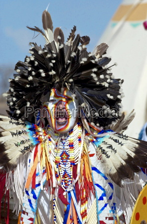 canadian plains indians at cultural display