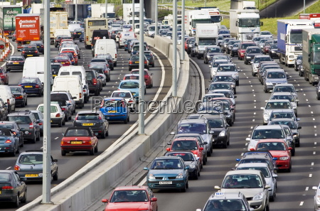 traffic congestion at a standstill in