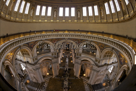 whispering gallery and nave interior of
