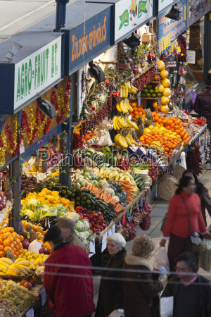fruit and vegetable stalls central market