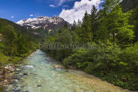 soca river and julian alps in