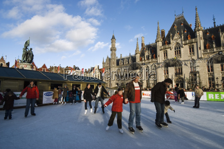 christmas ice rink in the market