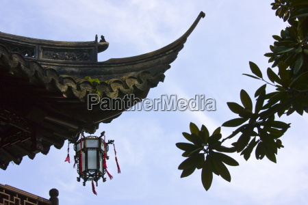 chinese lantern hanging from traditional style