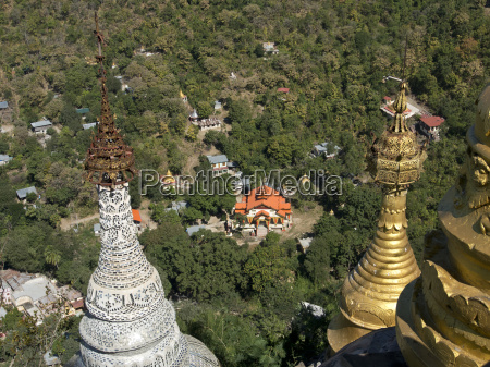 buddhist temples of mount popa near