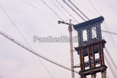 furong bridge under construction in three