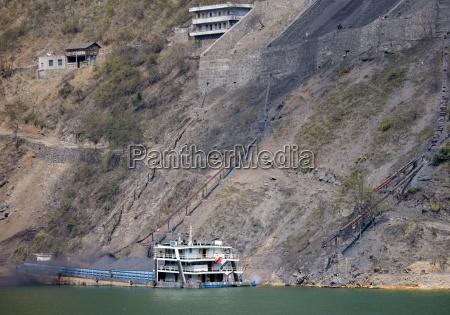 coal slides down hillside to fill