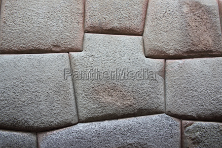 inca stone wall made from huge