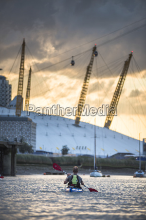 kayaking on the river thames at
