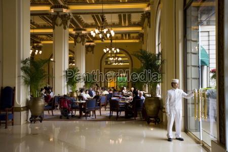 guests enjoy high tea at the