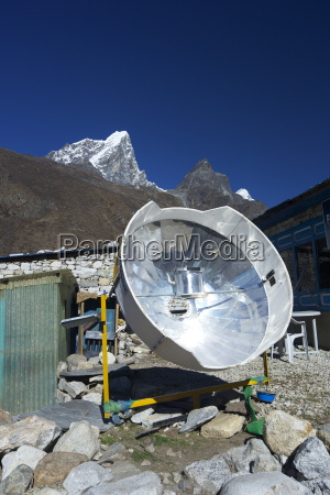 parabolic solar powered cooker in pheriche