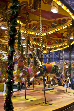 merry go round carousel at christmas