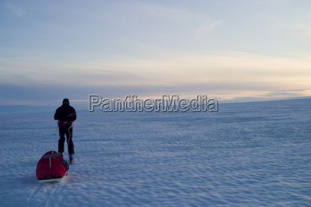 scene of expedition life on a