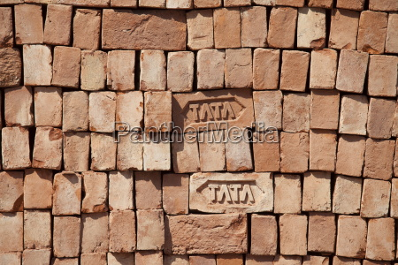 tata bricks stacked varanasi benares northern