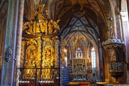 the wonderfully ornate interior of st