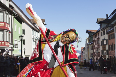 man in traditional costume federahannes narrensprung