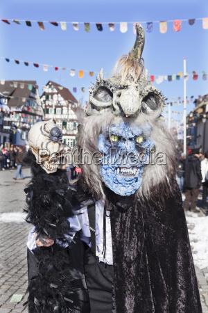 fantasy monster costume swabian alemannic carnival