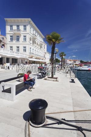 promenade at the harbour of porec