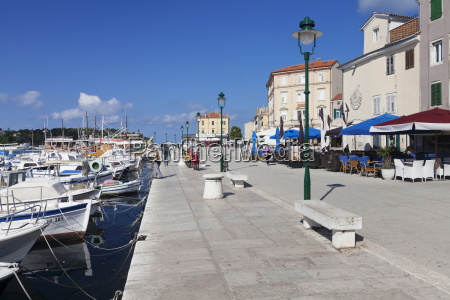 harbour and promenade in the old