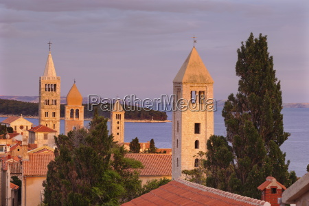 old town of rab town with