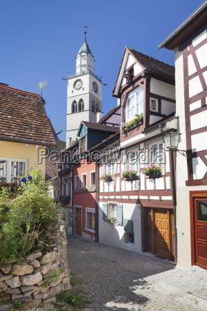 casas cidade cidade velha europa lago