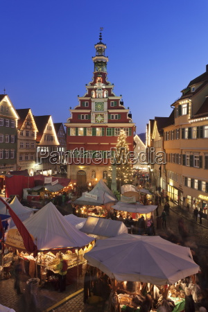 christmas fair at the marketplace in