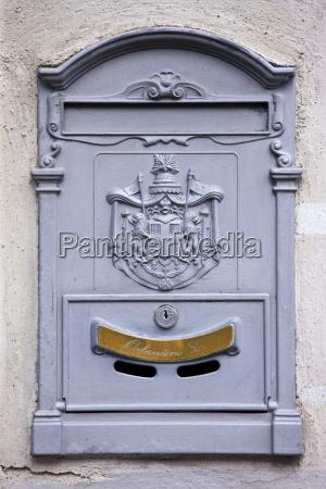 quaint postbox in montalcino val